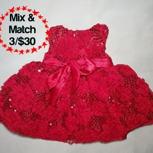 🔹️American Princess Layered Red Dress, 12 mths